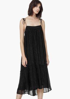 Vestido hilo metalizado - Vestidos de Mujer | OUTLET España