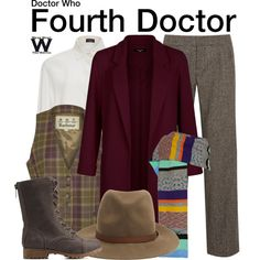 Inspired by Tom Baker as the Fourth Doctor on Doctor Who
