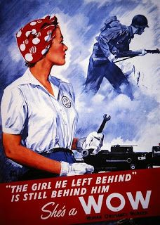 "WWII poster encouraging ladies to become ""WOWs"" - Woman Ordnance Workers."