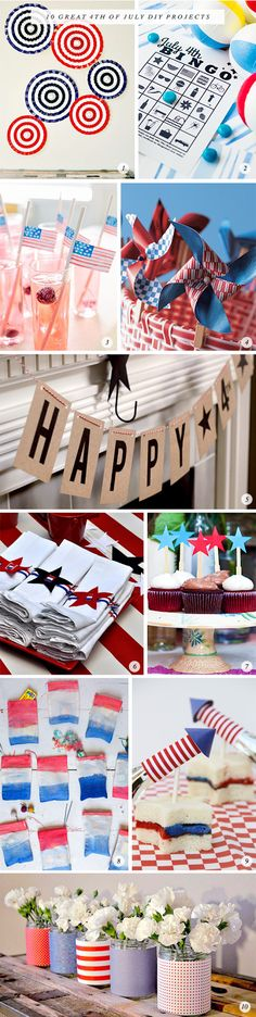 Living Creatively: 10 Great of July DIY Projects Craft Day, Tis The Season, Decoration, Independence Day, Fourth Of July, Memorial Day, Summer Fun, Summertime, Red And White