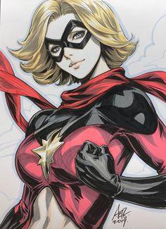 Ms Marvel, Stanley Lau, Marvel Women, Marvel Girls, Comics Girls, Marvel Art, Marvel Dc Comics, Comic Book Girl, Fantasy Art