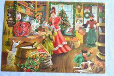 Vintage Christmas Card  General Store  Used by Pumpkintruckpaper