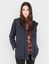 Womens Penfield Kasson Hooded Parka - Navy Blue