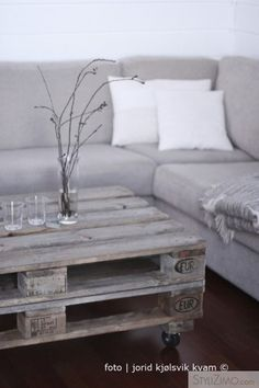 more grey...and pallets :) I'm a junk lover at heart. I think shabby can be glam-my ;)