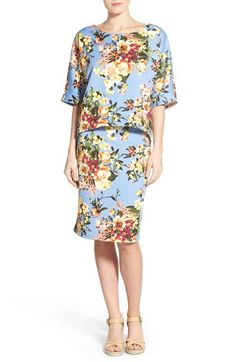 Bobeau Floral Print Top & Skirt available at #Nordstrom