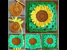 How to crochet flower granny square - YouTube