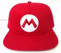 New SUPER MARIO SNAPBACK HAT Red White Letter-M Brothers Bros Nintendo  Men Women  Nintendo  BaseballCap 74bc58f9599c