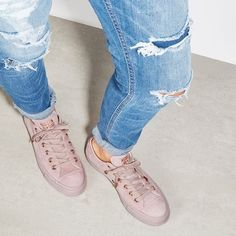 Meet our exclusive All Star Low  Converse in Lilac Rose Gold Suede Shop  straight from 61ee4f3e1
