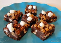 #Recipe - Chocolate Peanut Butter Marshmallow Squares