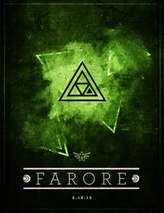 Farore from legend of zelda there is different values in the color green, dark greens to light, showing the value of a color