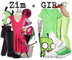 Invader Zim Outfits, Zim & Gir