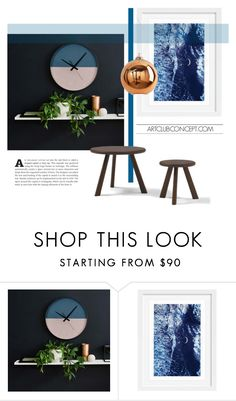 """Duo Clock..."" by gloriettequartet ❤ liked on Polyvore featuring interior, interiors, interior design, home, home decor and interior decorating"