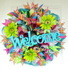 Fun Summer Wreath Adoorable Wreaths by Melissa