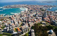 Vue de la ville  A Coruña