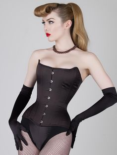 Steel Boned Balconette Corset | Outerwear Corset - 18th Century-inspired Antoinette Corset features a balconette bustline and is great for corset newcomers. This steel boned corset looks great as outerwear.