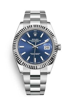 Rolex Datejust 41 Watch: White Rolesor - combination of Oystersteel and 18 ct white gold - 126334 Rolex Datejust Ii, Rolex Gmt, Cartier Rolex, Buy Rolex, Rolex Watches For Sale, Luxury Watches For Men, Men's Watches, Fashion Watches, Rolex Explorer Ii