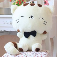 Color:white Features: Cute Plush Dolls Size:30cm (including the tail) sitting height:20cm Manual measurement, there is little error.(Error:0-2cm) Package Included:1 Pcs Plush Doll (only) NOTE: ON PROM