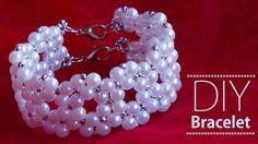 How to make pearl bracelet | DIY Bracelets | pearl bridal jewellery making