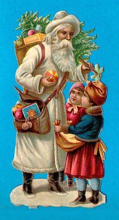 1689 Bügelbild Santa Claus Weihnachten Christmas Merry Vintage A4 No Spielzeug Basteln & Kreativität