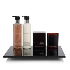 Black Amber line by Ex Voto Paris Bathroom Accessories Luxury, Interior Accessories, Bathroom Styling, Bathroom Interior Design, Perfume Tray, Perfume Bottles, Men's Grooming, Bath Design, Decorative Items