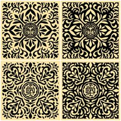 I've wanted this print set for over a year now.... Japanese Fabric Pattern Set #ShepardFairey #obey