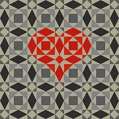 Heart quilt made of denim