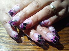 glitter nails  call Kristal at 916-670-0010 for an appointment in Sacramento
