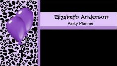 Trendy Party Planner Purple and Black Leopard Business Card http://www.zazzle.com/trendy_party_planner_purple_and_black_leopard_business_card-240590775300806744?rf=238835258815790439&tc=GBCEvents1Pin