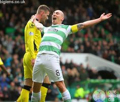 Celtic 4-1 St Mirren, December 14th 2014. Scott Brown celebrates after scoring his second of the match.
