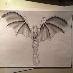 #dragon #sketch #bat #monster