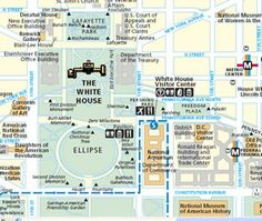 Washington dc map of attractions