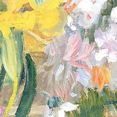 Vase of Flowers Painting by Pierre Auguste Renoir - Detail
