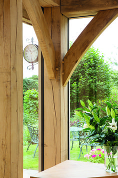 The stunning oak theme continues in the new side extension, which features a timber clad rear dormer and double height glazing. Brick Extension, Side Extension, Glass Extension, Garden Room Extensions, House Extensions, Victorian Terrace, Victorian Homes, Oak Framed Extensions, Conservatory Design