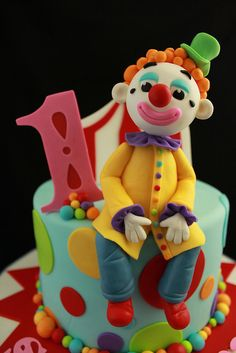 *SORRY, no information given as to product used ~ Clown close up shot by Andrea's SweetCakes, via Flickr