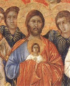 Duccio di Buoninsegna - Coronamento della Maestà (fronte) - La morte della Vergine, dettaglio - 1308-1311 - Tempera e oro su tavola - Museo dell'Opera del Duomo, Siena