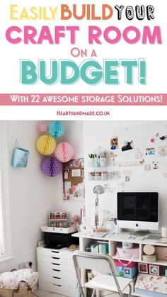 In need of craft storage solutions that are actually affordable so you can get a stunning Magazine ready Craft Room (on a budget!) Craft storage ideas for small spaces. In need of many craft storage ideas to finally get your craft room organized? Recycle tins into decorative storage! There are lots of posts here to help you so click through! #craftstorage #craft #craftsupplies #craftroom #storage #organization #organize