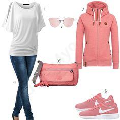 Pinkes Damen-Outfit mit Naketano Blonder Engel (w0581) -> SALE bis 70% auf Fashion