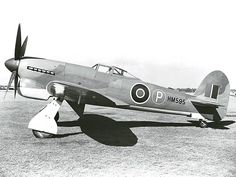 WWII 1942 - Royal Air Force (RAF) Hawker Tempest (Single-Engined Piston Fighter)