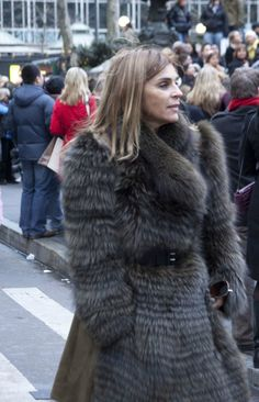 carine roitfeld in fur coat - Google Search
