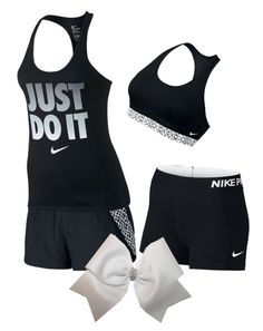 """""""What I wish I had to wear at cheer practice"""" by kaykb ❤ liked on Polyvore featuring NIKE"""