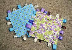 DIY Baby tag blankets!