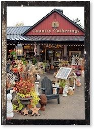 """Country Gatherings...In 2003 the Gift Barn devoted the lower level to country cottage, primitives, early American colonials and florals as well as other rustic selections. In 2004 a second gift shop, Country Gatherings was born across the parking lot to expand these selections. Amish Heartland magazine said of Country Gatherings, """"The store is filled with creative niches that showcase the merchandise in very attractive ways.""""    We now carry Brighton, Shadow Mountain Furniture, Fresh Produce…"""