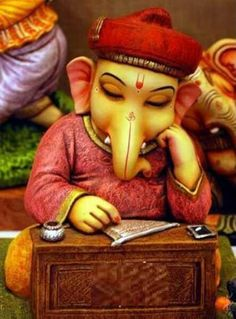 Lord Ganesha, worshipped firstly before any new task is taken up, Hindus believe that worshipping Ganesha will enable success.