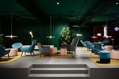 The Student Hotel Amsterdam City. Lobby area, photo © Kasia Gatkowska x …,staat.