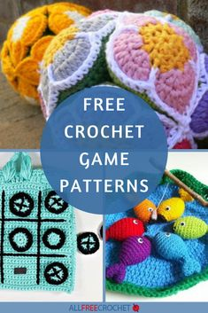 14+ Free Crochet Games Patterns Crochet Game, All Free Crochet, Unique Crochet, Crochet Toys Patterns, Stuffed Toys Patterns, Yarn Crafts For Kids, Crochet For Beginners, Kids House, Crafty
