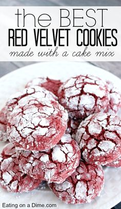 You have to try this delicious Red Velvet Cookies Recipe. They are amazing and perfect for the holidays. We cheat because we use a cake mix which makes this cookie even easier to make. You only need 4 ingredients.