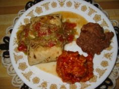 A fast and healthier way to serve Chimichangas than the traditional deep fried. These are very good, and you may dress them up to you own preference. I like to serve with green chile sauce sometimes instead of the picante sauce.
