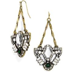 BaubleBar 'Zelda' Drop Earrings ($36) ❤ liked on Polyvore featuring jewelry, earrings, drop earrings, vintage style jewelry, vintage style earrings, gold tone drop earrings and sparkly earrings