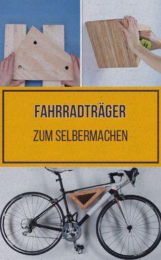 Dieser DIY-Fahrradträger wird sich ganz fantastisch an deiner Wand machen