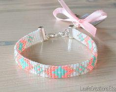 Loom beaded bracelet Ibiza bracelet beaded by LeafsCreations